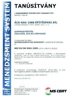 Iso 9001 - Ács-Bau 1988