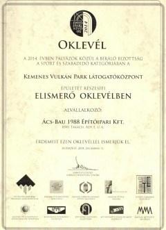Nívódíj 2 az Ács-Bau Kft-nek